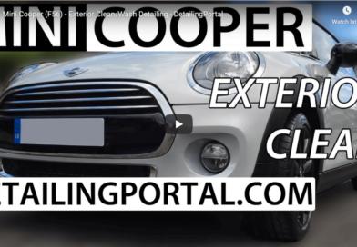 mini cooper exterior clean